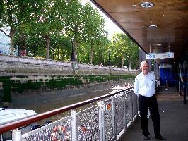 Владимир Вигилянский на пирсе Westminster Pier