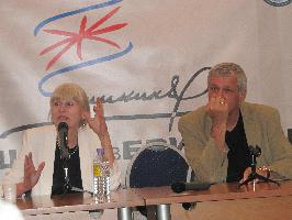 Олеся Николаева и Олег Борушко